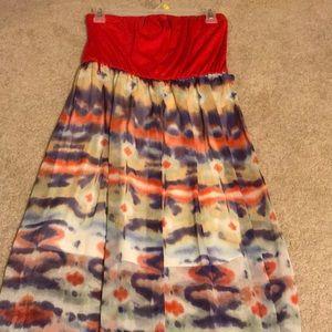 watercolor maxi dress ♦️♦️